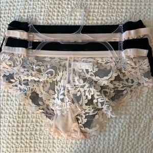 NWT FOUR PAIRS LACE PANTIES